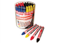 Markal MKL96081 - Builders Marker Red/Yellow/Blue/Black Tub 48