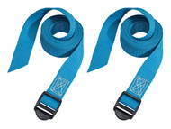 Master Lock MLK3004ECOL - Lashing Straps With Plastic Buckle 1.2m 2 Piece