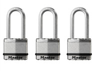 Master Lock - Excell Laminated Steel 45mm Padlock - 51mm Shackle Keyed Alike x 3