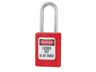 "Master Lock MLKS31KARED - Lockout Padlock '«Î䒫_'«'""'«Î'«'""'«'ö Keyed Alike 35mm Body & 4.76mm Stainless Steel Shackle"