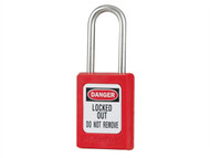 "Master Lock MLKS31RED - Lockout Padlock '«Î䒫_'«'""'«Î'«'""'«'ö 35mm Body & 4.76mm Stainless Steel Shackle"