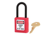 "Master Lock MLKS406RED - Lockout Padlock '«Î䒫_'«'""'«Î'«'""'«'ö 38mm Body & 6mm Composite Nylon Shackle"