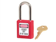 "Master Lock MLKS410RED - Lockout Padlock '«Î䒫_'«'""'«Î'«'""'«'ö 38mm Body & 6mm Hardened Steel Shackle"