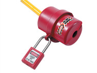 Master Lock MLKS487 - Lockout Electrical Plug Cover Small for 120 - 240 Volt.