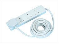 Masterplug MSTBFG5 - Extension Lead 240 Volt 4 Gang 13 Amp White 5 Metre