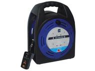 Masterplug MSTHBT20RCD - Cassette Reel 20 Metre 4 Socket 13A RCD & Thermal Cut-Out 240 Volt