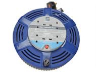 Masterplug MSTLCT15104R - Cassette Cable Reel 15 Metre 4 Socket Thermal Cut-Out Blue 10A 240 Volt