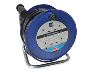 Masterplug MSTLDCT30134 - Heavy-Duty Cable Reel 30 Metre 4 Socket 13A Thermal Cut-Out 240 Volt