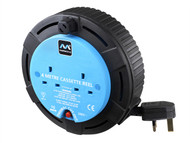 Masterplug MSTSCT04102B - Cassette Cable Reel 4 Metre 2 Socket 10A Thermal Cut-Out 240 Volt