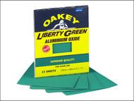 Oakey OAK84727 - Multi Purpose Green Aluminium Oxide Sheets 230 x 280mm Assorted (4)