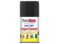 Plasti-kote PKT101S - Fast Dry Enamel Aerosol Black Gloss 100ml