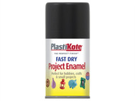 Plasti-kote PKT101SF - Fast Dry Enamel Aerosol Black Matt 100ml