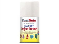 Plasti-kote PKT102S - Fast Dry Enamel Aerosol White Gloss 100ml