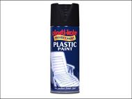 Plasti-kote PKT10606 - Plastic Paint Spray Black Gloss 400ml