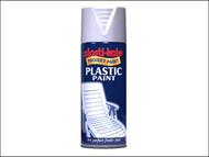 Plasti-kote PKT10607 - Plastic Paint Spray White Gloss 400ml