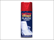 Plasti-kote PKT10610 - Plastic Paint Spray Red Gloss 400ml