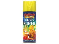 Plasti-kote PKT1115 - Super Gloss Spray Yellow 400ml
