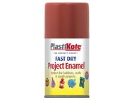 Plasti-kote PKT112S - Fast Dry Enamel Aerosol Nut Brown 100ml