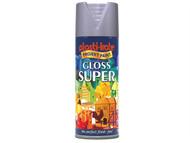 Plasti-kote PKT1149 - Super Gloss Spray Aluminium 400ml