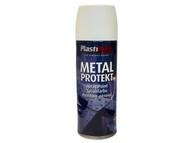 Plasti-kote PKT1287 - Metal Protekt Spray Satin White 400ml
