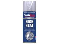 Plasti-kote PKT2304 - High Heat Paint Aluminium 400ml