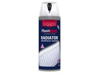 Plasti-kote PKT26100 - Twist & Spray Radiator Gloss White 400ml