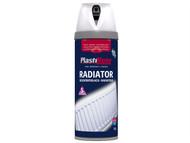 Plasti-kote PKT26102 - Twist & Spray Radiator Satin White 400ml