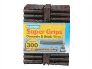 Plasplugs PLABP539 - BP 539 Solid Wall Super Grip Fix Brown (300)