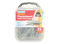 Plasplugs PLACF111 - CF 111 Standard Plasterboard Fixings Pack of 25