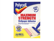 Polycell PLCMSWPA20R - Maximum Strength Wallpaper Paste 20 Roll