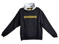 Roughneck Clothing RNKHOODYL - Black & Grey Hooded Sweatshirt - L