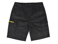 Roughneck Clothing RNKSHORT42 - Black Work Shorts Waist 42in