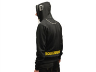 Roughneck Clothing RNKZIPHODXXL - Black & Grey Zip Hooded Sweatshirt - XXL