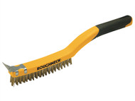 Roughneck ROU52030 - Carbon Steel Wire Brush Soft Grip 350mm (14in)
