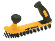 Roughneck ROU52052 - Two Handed Wire Brush Soft Grip
