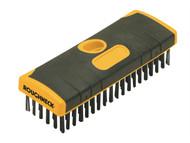 Roughneck ROU52060 - Heavy-Duty Scrub Brush Soft Grip 200mm (6in) NO Handle