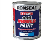Ronseal RSLAMPWS25L - 6 Year Anti Mould Paint White Silk 2.5 Litre