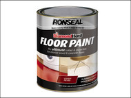 Ronseal RSLDHFPTR5L - Diamond Hard Floor Paint Tile Red 5 Litre