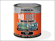 Ronseal RSLNRHABL250 - No Rust Metal Paint Hammer Black 250ml