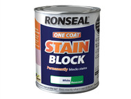 Ronseal RSLOCSBW750 - One Coat Stain Block White 750ml