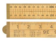 R.S.T. RST073P - RSR073P wood 4 Fold Rule 1m / 39in (Blister packed)