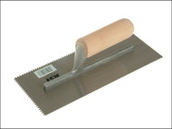 R.S.T. RST153DT - Notched Trowel 5mm V Notches Wooden Handle 11in x 4.1/2in