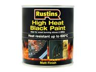"""Rustins RUSH600BP500 - High Heat Paint 600'«'""""'â'¢'«Î䒫C Black 500ml"""