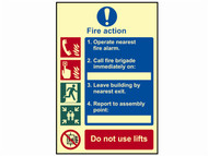 Scan SCA0202 - Fire Action Procedure - Photoluminescent 200 x 300mm