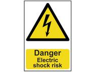 Scan SCA0750 - Danger Electric Shock Risk - PVC 200 x 300mm