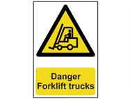 Scan SCA0954 - Danger Forklift Trucks - PVC 200 x 300mm