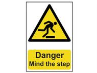 Scan SCA1105 - Danger Mind the step - PVC 200 x 300mm