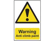 Scan SCA1113 - Warning Anti Climb Paint - PVC 200 x 300mm