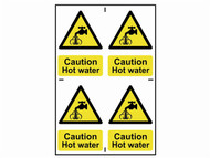 Scan SCA1309 - Caution Hot Water - PVC 200 x 300mm