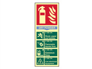 Scan SCA1593 - Fire Extinguisher Composite - Dry Powder - Photoluminescent 75 x 200mm